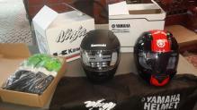 Helm kawaski dan yamaha