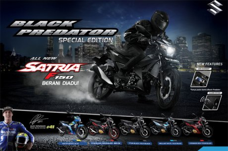All New Satria F150 Injeksi Black Predator 2016