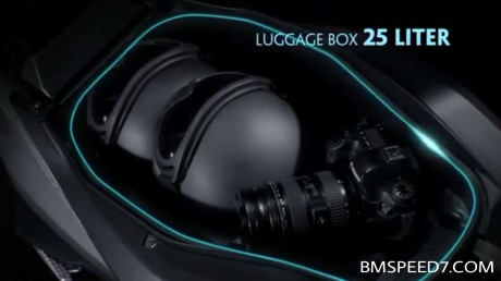 Bagasi Yamaha NVX kapasitas 25 liter