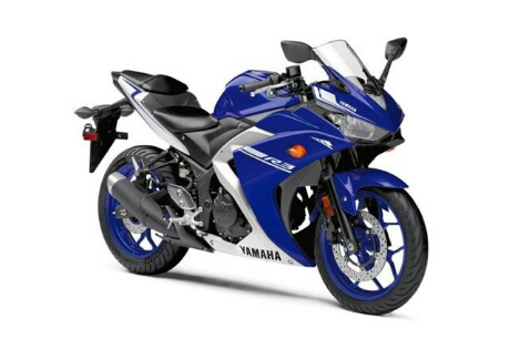 Yamaha R3 Facelift 2017, Warna Race Blue Kombinasi putih