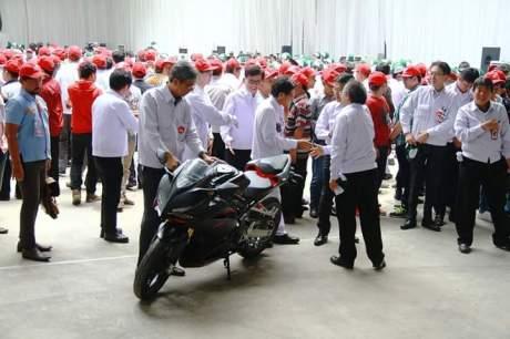 Syukuran produksi Massal Honda CBR250RR di plant 5 AHM Karawang
