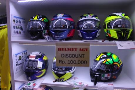 pilihan warna helm AGV K3SV double visor
