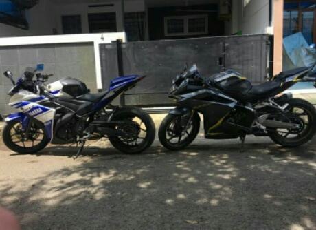 Tampak Samping Honda CBR250RR Vs Yamaha R25,Ganteng Mana? Pict : Alexwilliam
