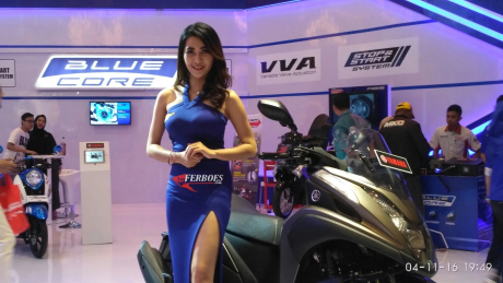 Nadya Febylia,Yamaha Girl At IMOS 2016