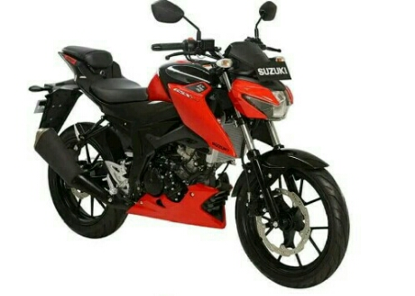New Suzuki GSX-S150 warna merah strip hitam