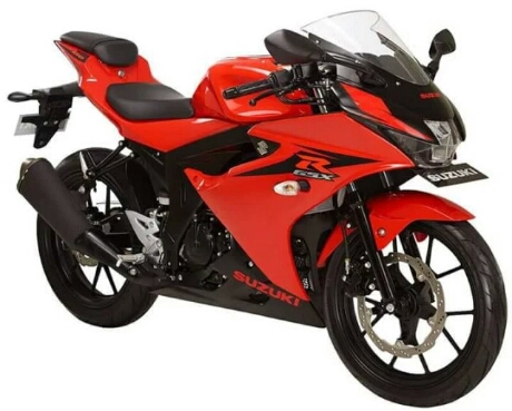 New Suzuki GSX-R150 2017 warna merah striping hitam